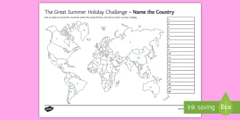 The Great Summer Holiday Challenge Activity Sheet  - Geography, Atlas, Countries, Stand alone lesson, summer holidays