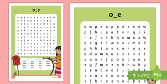 Split 'o_e' Digraph Differentiated Word Search - vowel diagraph, reading, first class, second class, 1st class, 2nd class, jolly phonics, jolly gramm