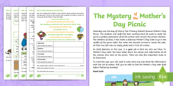 KS1 Mother's Day SpaG Mystery Problem-Solving Game - mothers day, mothering sunday, mother's day activity, mother's day worksheet, mother's day worksh