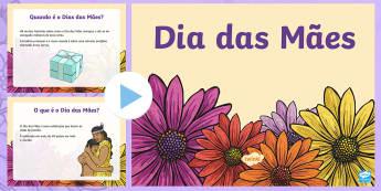 Dia das Mães PowerPoint - dia da mae, atividade, trabalhos manuais, fichas de colorir, paginas de colorir, recursos em portugu