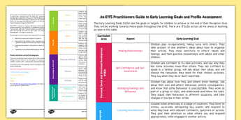 An EYFS Practitioners Guide to the Early Learning Goals and Profile - EYFS, Early Years, assessment, ELG, EYFSP, Early Years Profile, Reception, Good Level of Development, Emerging, Expected, Exceeding