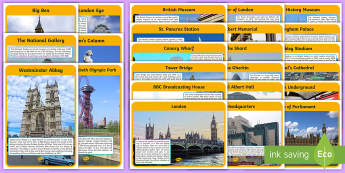 London landmark information  Display Posters - London Landmark Display Photos - London, landmark, captial, England, tourism, tourist, information,