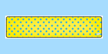 Yellow with Blue Stars Editable Display Banner - yellow, blue, display, banner, display banner, display header, themed banner, editable banner, editable