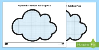 The Weather Station Aistear Construction Grid Writing Template - ROI, Aistear, the weather station, construction, grid, template,Irish
