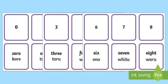 Numerals and Words 0-9 Matching Cards - Te Reo Maori, Pāngarau, Ngā Kāri, numbers, go fish, game, play, digit