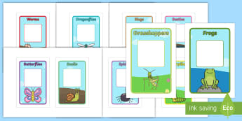 Class Group Signs (Minibeasts) IKEA Tolsby Frame - Class Group Signs, Minibeasts, group signs, group labels, group table signs, table sign, teaching gr
