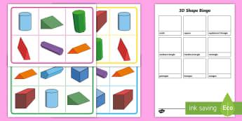 3D Shape Faces Bingo - 3D Shape Faces Bingo -, 3d shape, bingo, 3d, shape, shap, activity, game,3dshape, 3d sape, maths, ma
