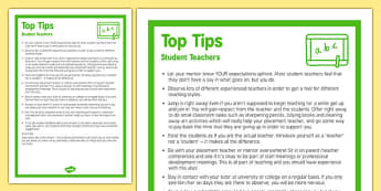 Top Ten Tips for Student Teachers - student, teachers, top ten, tips