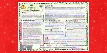 Christmas Lesson Plan Ideas KS2 - christmas, KS2, lesson plan