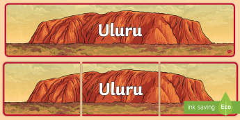 Uluru Banner - Australian landmark, Ayers Rock, Australian geography, geography display, australian display,Austral
