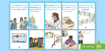 NI Thinking Skills and Personal Capabilities Being Creative Statements Display Posters - tSPC, Northern Ireland, Success criteria, Targets, Curriculum, imagination