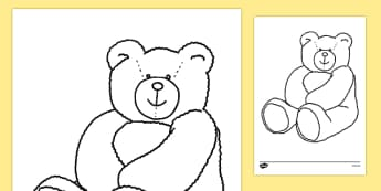 Colouring Teddy Bears - Teddy Bear, Teddy Bears, Alphabet frieze, Display posters activity,  colouring, fine motor skills, pudsey, pusdey bear, pudsey template,