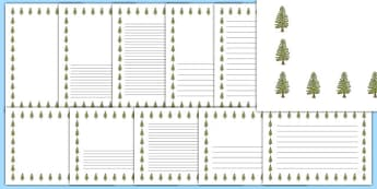 Larch Tree Themed Page Borders - larch tree, themed, page borders, page, borders