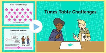 Times Table Challenge PowerPoint