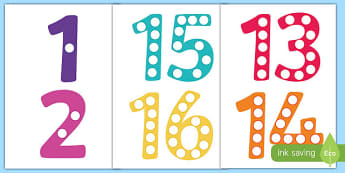 graphic about Free Large Printable Numbers 1 100 named Clearly show Quantities - Most important Supplies