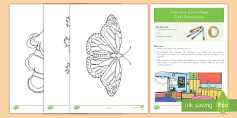 Classroom Camouflage Craft Instructions -  Butterfly, Adaptations, survival, lizard, fish, adaptation, environment