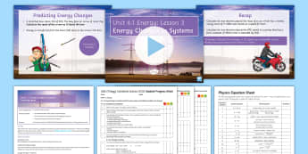 AQA Physics Unit 6.1 Energy Lesson 3 Lesson Pack - KS4 AQA Physics Unit 6.1 Energy SoW, Energy Changes, Systems, Work, Force, Energy Transfer