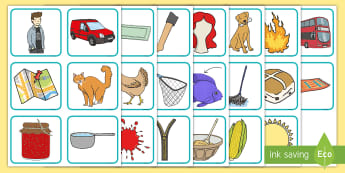 CVC Picture Cards - consonant, vowel, Consonant Vowel Consonant, Key Stage One, Images, Flashcards,