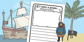 If I Were a Pirate Writing Frame Romanian Translation - romanian