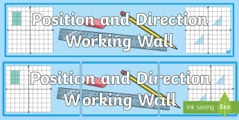 UKS2 Position and Direction Working Wall Display Banner - classroom display, maths display,  coordinates, co-ordinate, shape, shapes, 2d shapes, quadrants, tr