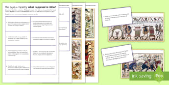 The Bayeux Tapestry Worksheet / Activity Sheet - medieval england, norman conquest, harold godwineson, william of normandy, pevensey, bayeux tapestry