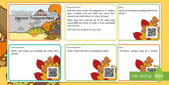 Harvest Code Hunter - Harvest, outdoor learning, Forest School, Fall, Interactive
