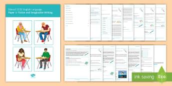 Edexcel GCSE English Language Paper 1 Notes for Study - English Language, GCSE, Edexcel, revision, exam preparation, exam skills, exam timings, reading skil