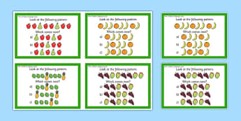 Year 2 Maths Pattern Challenge Cards - year 2, maths, challenge cards, challenge, cards, pattern
