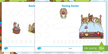 Saving Easter Pencil Control Activity Sheets - saving easter, easter bunny, pencil control, handwriting, letter formation, fine motor skills