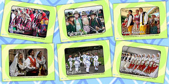 European Countries Traditional Clothing Display Photos - clothes