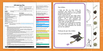 EYFS A New Broom Counting Spell Adult Input Plan and Resource Pack - EYFS, Early Years planning, Room on the Broom, Julia Donaldson, Halloween, witches, magic, spell, Maths, counting