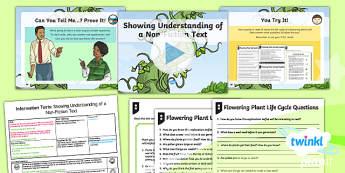 Plants: Jack and the Beanstalk: Information Texts 2 Y3 Lesson Pack s - Traditional stories, life processes, living things, explanation texts, seed