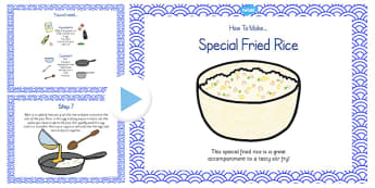 Special Egg Fried Rice Recipe PowerPoint - rice, recipe, egg