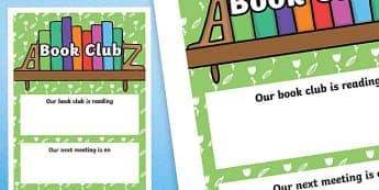Book Club A4 Display Poster-Scottish