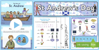St Andrew's Day Early Level Resource Pack - Scotland, St Andrew, 30th Nov, Patron Saint, Andrew, Saints Days
