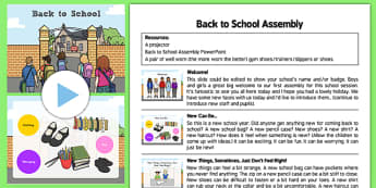 Back to School Assembly Pack - assembly, new start, beginning, change, new