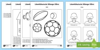 Bileoga Oibre: Léamhthuiscint cumas ard  - Léamhthuiscint, reading comprehension, gníomhaíocht, activitu, cumas ar, high ability, Irish