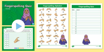 Animals Fingerspelling Quiz PowerPoint - sign language, spellings, whole class activity, spelling quiz, bsl, auslan, nzsl, british sign langu