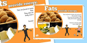 Year 6 Fats Nutrients Display Poster - healthy eating, ourselves
