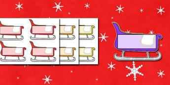 Christmas Editable Self-Registration Sleighs - self registration, self-registration, editable, editable labels, christmas sleigh, editable sleigh, editable christmas sleigh, editable self registration labels, labels, registration, child name label, n