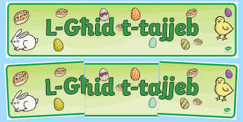 Happy Easter Display Banner (Maltese) - display, banner, display banner, happy easter, happy easter display banner, maltese display banner, l ghid t tajjeb banner, l ghid t tajjeb, happy easter maltese banner,  poster, sign, classroom display, themed