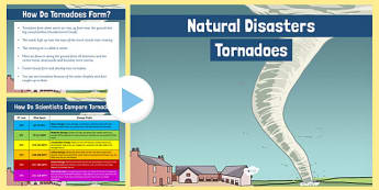Natural Disasters Tornadoes Information PowerPoint - disaster, extreme survival