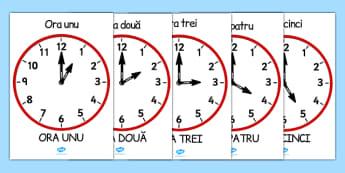 Ceasul la oră fixă - Planșe matematice