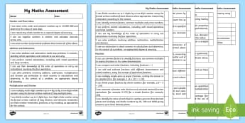 Year 6 Maths Assessment I Can Statements Checklist - 2014 National Curriculum Year 6 Maths Assessment Checklist - numeracy, ks2, maths assessemnt, sats, numracy,