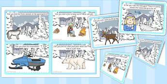 Arctic Explorer Role Play Challenge Cards - challenge cards, card