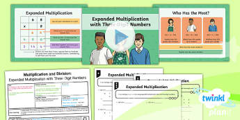PlanIt Maths Y4 Multiplication and Division Lesson Pack Written Methods Multiplication Expanded Method (2)