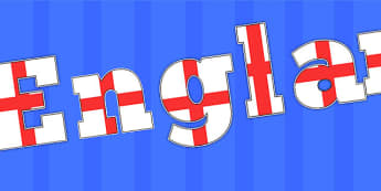 England A4 Display Lettering - united kingdom, world cup, sport