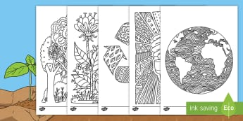 Earth Day Mindfulness Colouring Pages English/Hindi - earth day, mindfulness, colouring sheets, colouring, sheet, colour,mindfullness,minfulness,mindfulln