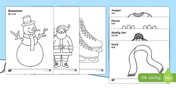 Winter Topic Colouring Pages English/Hindi - Winter Topic Colouring Sheets -  Arctic, winter, xmas, colouring, fine motor skills, poster, workshe
