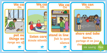 Kindness Week Good Manners A4 Display Poster English/French - kindness week, twinkl kindness week, kind resources, good manners, polite, EAL French,French-transla